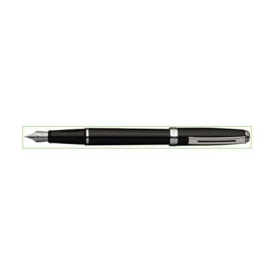 Sheaffer Prelude Fountain Pen Gloss Black: Chrome Trim, M 万年筆 (並行輸入品)「並行輸入品」