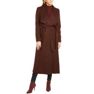 コールハーン レディース コート アウター Cole Haan Long Wool-Blend Coat -