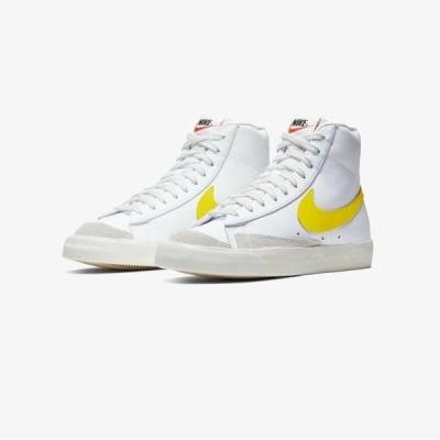 ナイキ NIKE ブレイザー Blazer Mid '77 Vintage Skate Casual Shoesメンズ BQ6806-101 ミッド ヴィンテージ スケート カジュアル スニーカー White Yellow