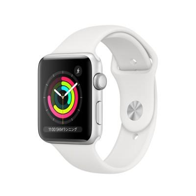 AppleWatch Series3(GPSモデル)- 42mmシルバーアルミニウムケースとホワイトスポーツバンド - Apple MTF22J/A