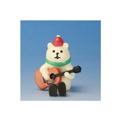 インテリア 置物 オブジェ 動物 小さい クマ ギターデュオ しろくま concombre サイズ 高さ 46mm ポリレジン ミニサイズ ミニチュア クリスマス 冬