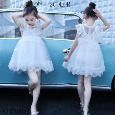 キッズ ドレス ワンピース チュニックワンピ 子供 ドレス フォーマル レース ロング フレアワンピース 女の子 子供服 こどもの日