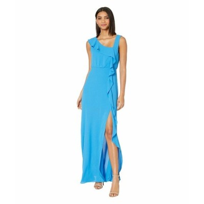 ビーシービージーマックスアズリア ワンピース トップス レディース Ruffle Front Evening Gown French Blue