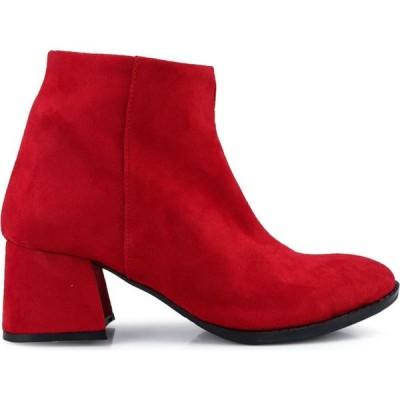 エルシーワイキキ Lc Waikiki レディース ブーツ シューズ・靴 Heeled Suede Boots Red