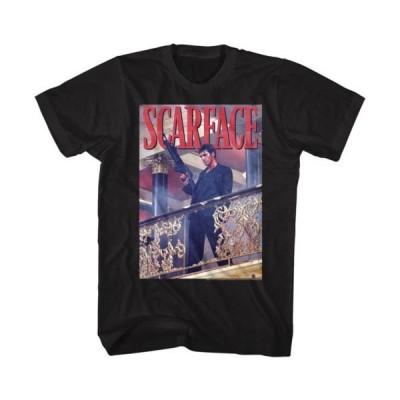 Tシャツ スカーフェイス Scarface Railing Shot Licensed Adult T-Shirt