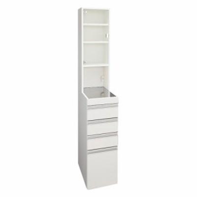 家具 収納 キッチン収納 食器棚 キッチンストッカー 色が選べるステンレス天板 すき間収納庫 ハイタイプ 幅30高さ170cm 550509