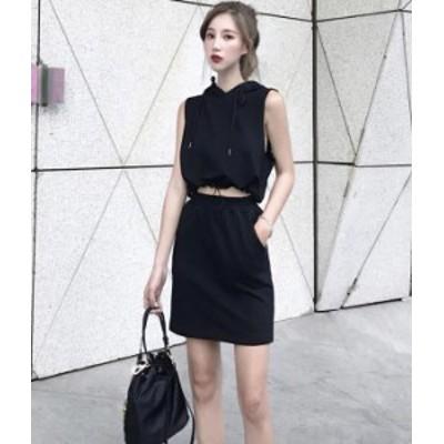 スカート セットアップ フード ミニスカート 黒 グレー 帽子 ニット 秋物 冬物 最新 レディース ファッション 2020 人気 可愛い 大人