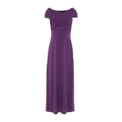 MEM.JS 7分丈ワンピース・ドレス パープル 40 アセテート 76% / ナイロン 19% / ポリウレタン 5% 7分丈ワンピース・ドレス