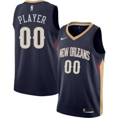 ナイキ メンズ シャツ トップス Nike Men's Full Roster New Orleans Pelicans Navy Dri-FIT Swingman Jersey
