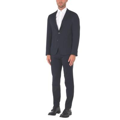 YOOX - トミーヒルフィガー TOMMY HILFIGER スーツ ダークブルー 50 コットン 69% / ポリエステル 31% スーツ