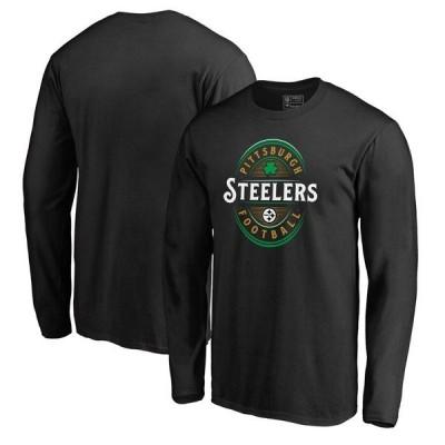 ファナティクス ブランデッド メンズ Tシャツ トップス Pittsburgh Steelers NFL Pro Line by Fanatics Branded Forever Lucky Long Sleeve T-Shirt