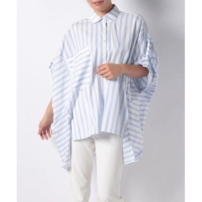 【アナイ アウトレット】 PALMER/HストライプBIGシャツ レディース ブルー 38 ANAYI OUTLET