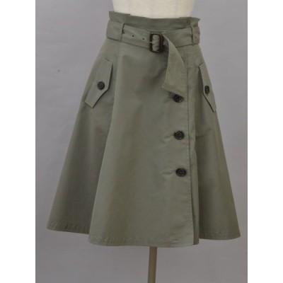 ジャスグリッティー JUSGLITTY スカート 2サイズ カーキ レディース F-L6402