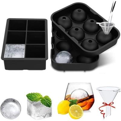 Gsogcax 製氷皿 シリコン 大 製氷器 蓋付き【食品級-FDA認証】ブロックアイストレー コンパクト フタ付アイストレイお茶やお酒用氷が作れる製