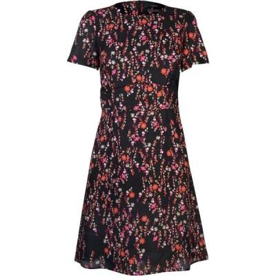 セット SET レディース パーティードレス ワンピース・ドレス flower fit and flare dress BLACK RED