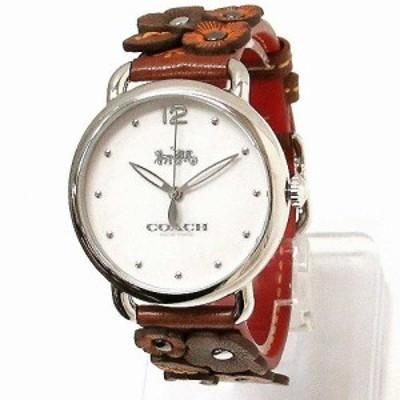 コーチ 時計 レディース COACH アウトレット デランシー レディース ウォッチ フラワー モチーフ ベルト 腕時計 14502744
