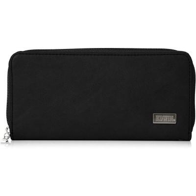 [エドウィン] 財布 ダークメタルプレート ラウンドZIP カード収納 紙幣収納 ブラック