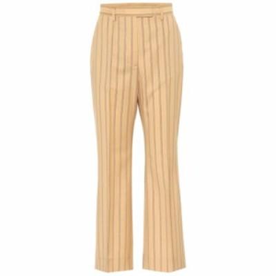 アクネ ストゥディオズ Acne Studios レディース ボトムス・パンツ Striped high-rise flared wool pants Pale Orange