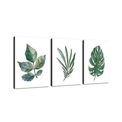 Leaf  Canvas Art Simple Life Green Leaf Painting Wall Art Decor 30cm x 41cm