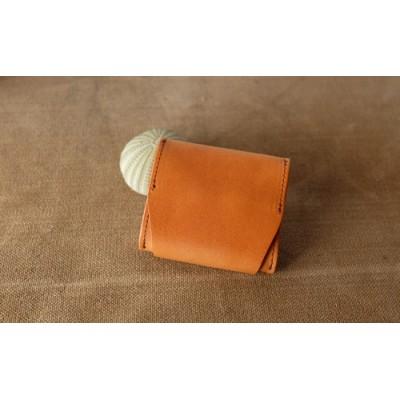 植物タンニンレザーのコインケース(赤茶)※クレジット限定 プレゼント 女性 オシャレ 男性 ギフト