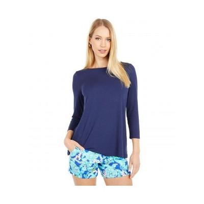 Lilly Pulitzer リリーピューリッツァー レディース 女性用 ファッション Tシャツ Ophelia Top - True Navy