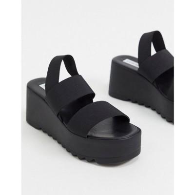 スティーブ マデン Steve Madden レディース サンダル・ミュール チャンキーヒール シューズ・靴 Ramzi chunky flatform sandals in black ブラック