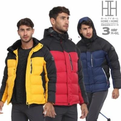 中綿ジャケット メンズ アウトドア キャンプ トレッキング ハイキング 中綿入り シンプル 切り替え