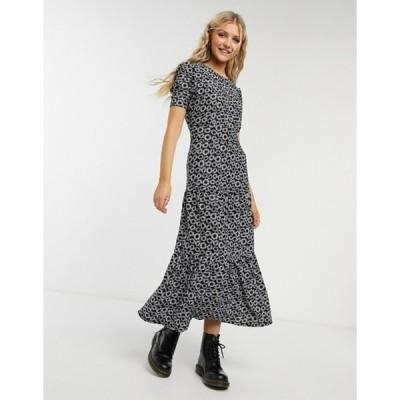 トップショップ レディース ワンピース トップス Topshop tiered dress in daisy print