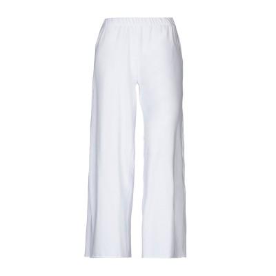 SATÌNE パンツ ホワイト L コットン 100% / プラスティック パンツ