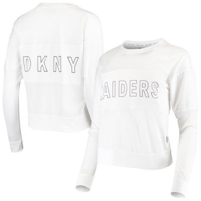 ダナ キャラン ニューヨーク レディース Tシャツ トップス Las Vegas Raiders DKNY Sport Women's Kaitland Tri-Blend Long Sleeve T-Shirt