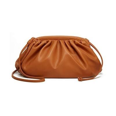 Women Dumpling Clutch Purse Small PU Leather Crossbody Bags Trendy Cloud De