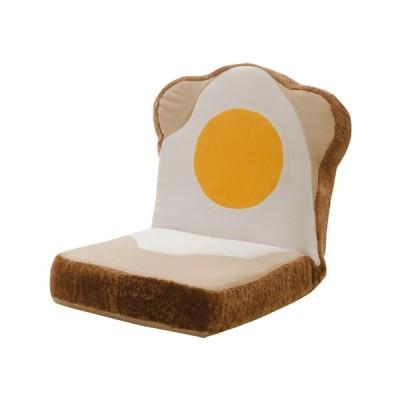 カバーリング めだまやき食パン座椅子 日本製 目玉焼き 食パン 座椅子 コンパクト おしゃれ 代引不可