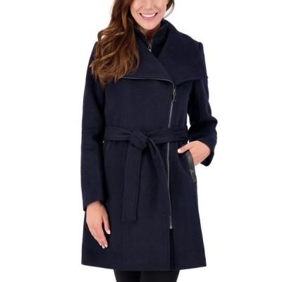 ヴィンスカムート コート アウター レディース Asymmetrical Belted Wrap Coat Navy