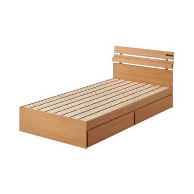 床面下に収納できるワゴン付きすのこベッド<マットレス付きシングル/本体のみシングル>
