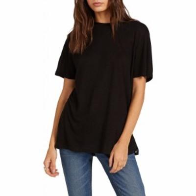 ボルコム VOLCOM レディース Tシャツ ロング トップス Tern N Bern Longline T-Shirt Black