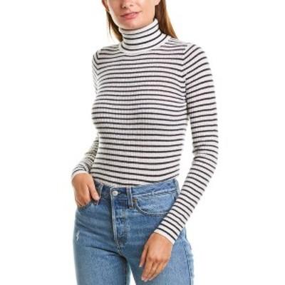 ジェイクルー レディース ニット&セーター アウター J.Crew Cashmere Sweater snow and ink navy stripe