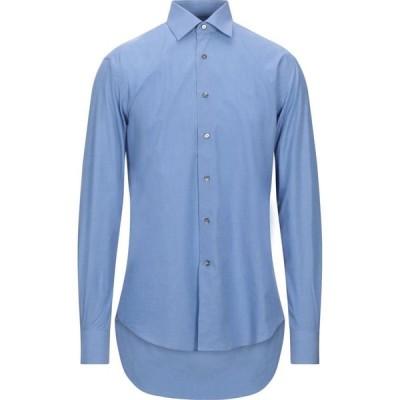 ランバン LANVIN メンズ シャツ トップス solid color shirt Sky blue