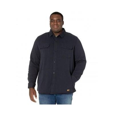 Timberland PRO ティンバーランド メンズ 男性用 ファッション ボタンシャツ Extended Mill River Fleece Shirt Jacket - Dark Navy