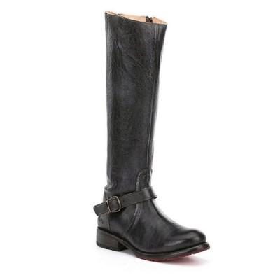 ベッドステュ レディース ブーツ・レインブーツ シューズ Glaye Buckle Detail Strap Equestrian Leather Block Heel Riding Boots