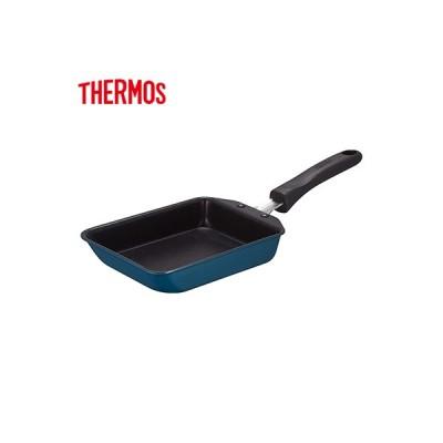 サーモス デュラブルシリーズ 玉子焼きフライパン KFF 13cm ガス火専用 KFD-013E-NVY ネイビー THERMOS