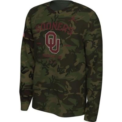ナイキ ジョーダン Jordan メンズ 長袖Tシャツ トップス Oklahoma Sooners Camo Veteran Long Sleeve T-Shirt
