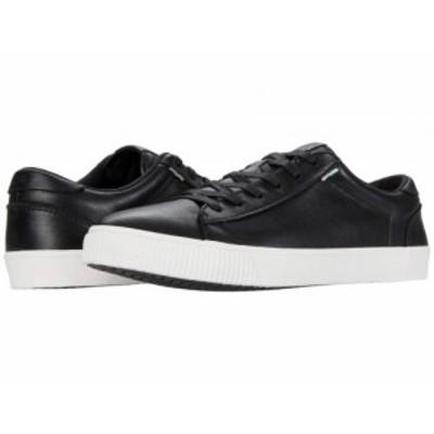 TOMS トムス メンズ 男性用 シューズ 靴 スニーカー 運動靴 Carlson Black Leather【送料無料】