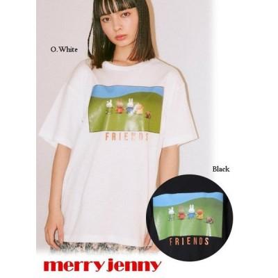 夏セール40%OFF  merry jenny  メリージェニー miffy FRIENDS Tシャツ  21春夏. 282122702001 Tシャツ  プレセール