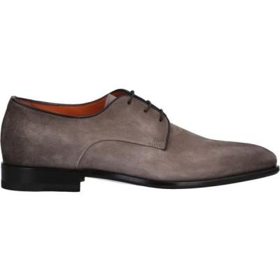 サントーニ SANTONI メンズ シューズ・靴 laced shoes Dove grey