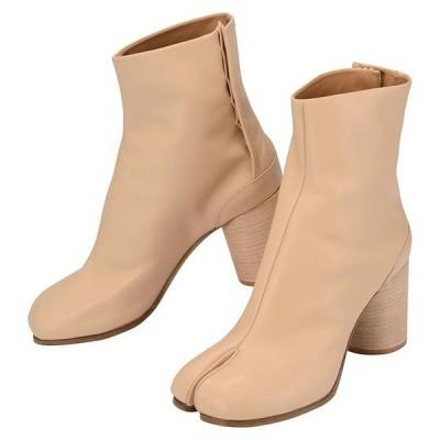 Maison Margiela メゾン マルジェラ STIVALETTO S58WU0260 PR516 T4091 レディース ブーツ 靴 ショートブーツ タビ 足袋ブーツ ベージュ レザー(mgl0034) 【