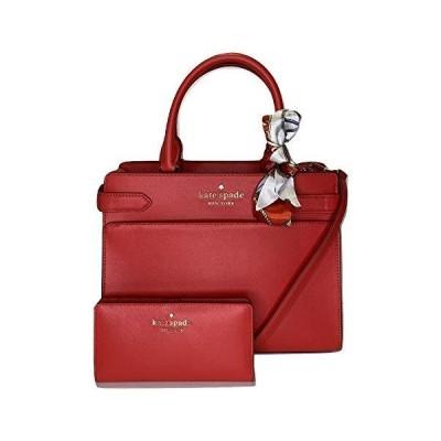 Kate Spade Staci MD サッチェル 二つ折り財布&スカーフ付き US サイズ: M カラー: レッド(並行輸入品)