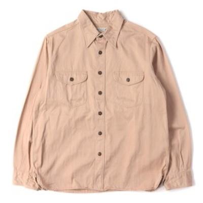 BuzzRicksons (バズリクソンズ) ヘリンボーンワークシャツ(HERRINGBONE WORK SHIRT) ベージュ S 【メンズ】【中古】【K2737】