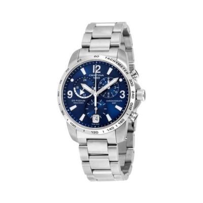腕時計 サーチナ Certina DS Podium GMT ブルー ダイヤル ステンレス スチール メンズ 腕時計 C0016394404700