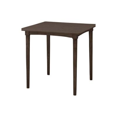 ダイニングテーブル おしゃれ 安い 北欧 食卓 テーブル 単品 モダン デスク 机 テレワーク 在宅 会議用テーブル ブラウン 約 幅75 奥行75 高さ70