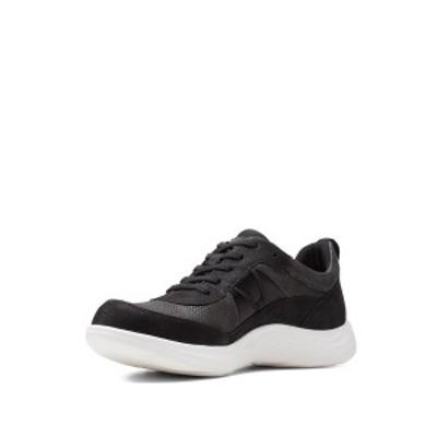 クラークス レディース スニーカー シューズ Lulu Walk Sneaker BLACK